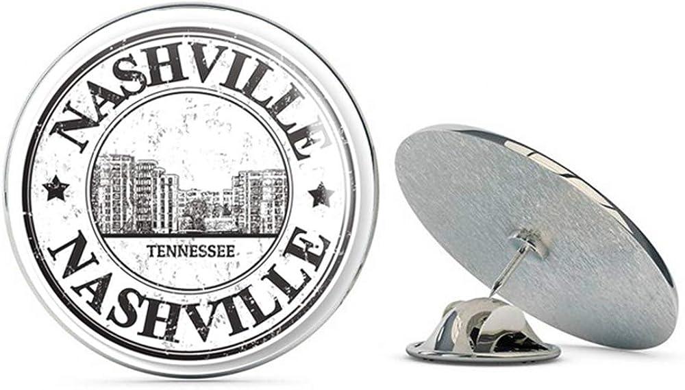 Nashville Tennessee Round Metal 0.75