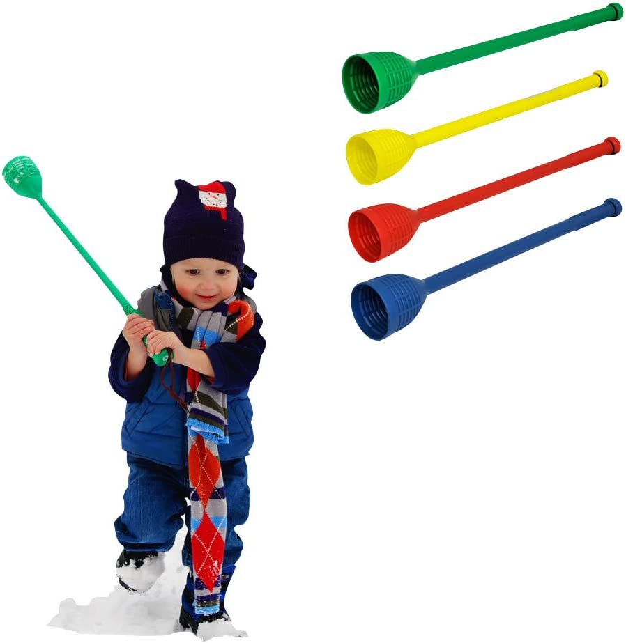 BESPORTBLE Plastic Snowball Thrower Stick Throwing Stick Launcher Snow Snowball Fight Tool Device for Winter Outdoor Sports Christmas Party Favor