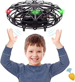 CPSYUB Toys for Boys Age 6, Hand Operated Mini Drone, Hands Free Helicopter Toys for Boys Age 4, 5, 6, 7, 8, 9, 10, 11, 12 Girls, Easy Flying Ball Drone for Kids Toys Gifts (Black)