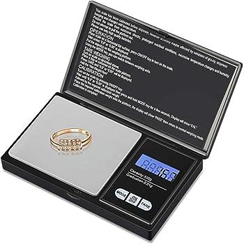 Zorara Báscula Digital para Cocina de Acero Inoxidable, 500g/1.1lbs, Balanza de Alimento Multifuncional, Peso de Cocina con Pantalla LCD, Plata (Baterías No Incluidas): Amazon.es