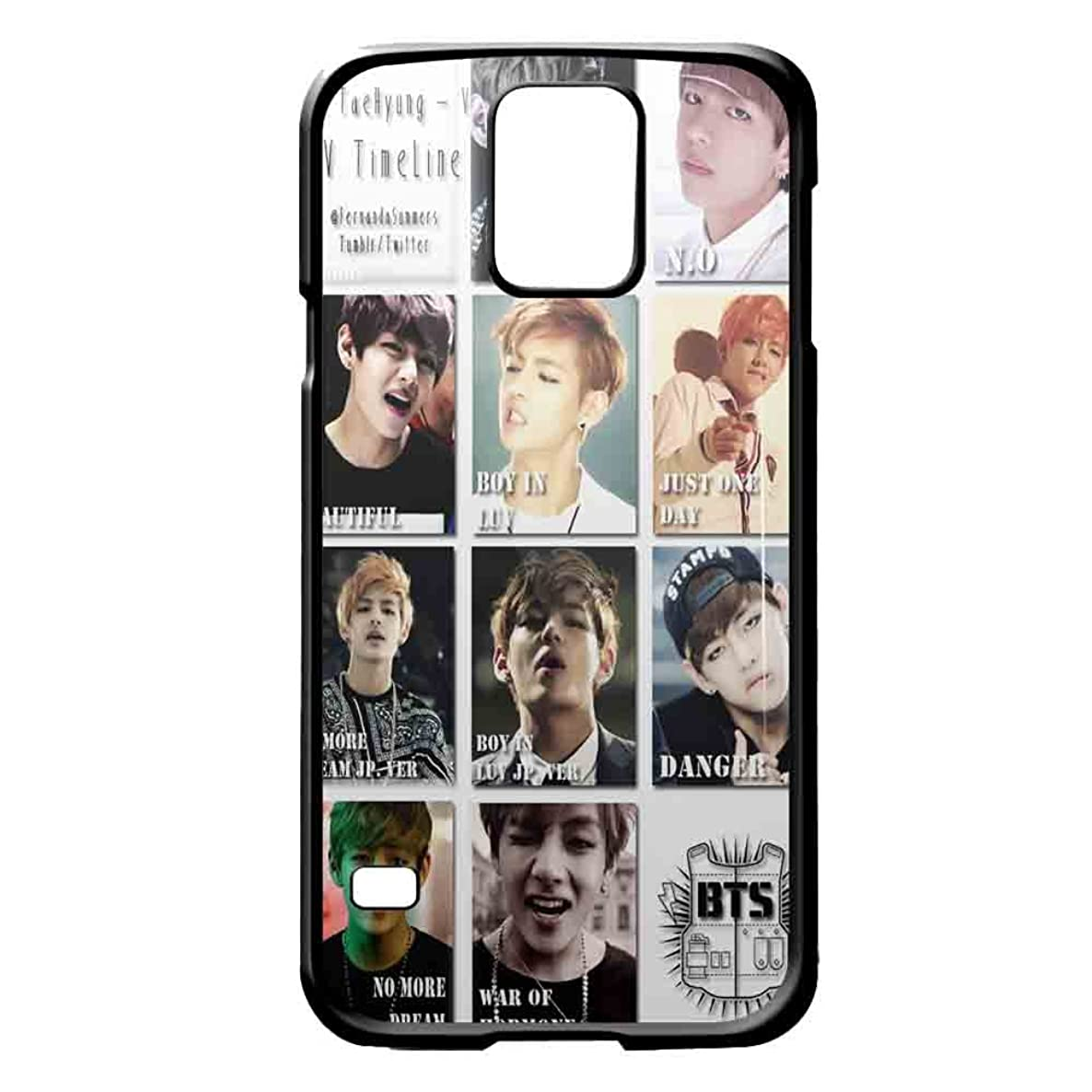 BTS Kim Taehyung collage iPhone case and samsung galaxy case (Samsung Galaxy S5 Black)