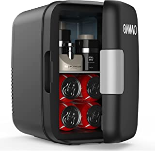 $49 » Sponsored Ad - OMMO Mini Fridge, 6 L/8 Can Portable Fridge, Cooler and Warmer Compact Small Refrigerator with AC/DC Power,...