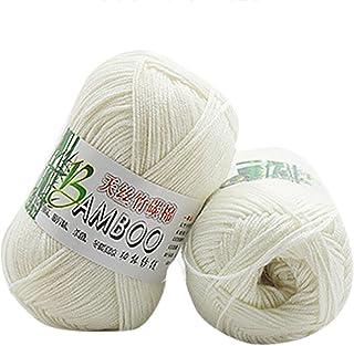 HUHU833 50g New Bamboo Cotton Warm Soft Natural Knitting Woo