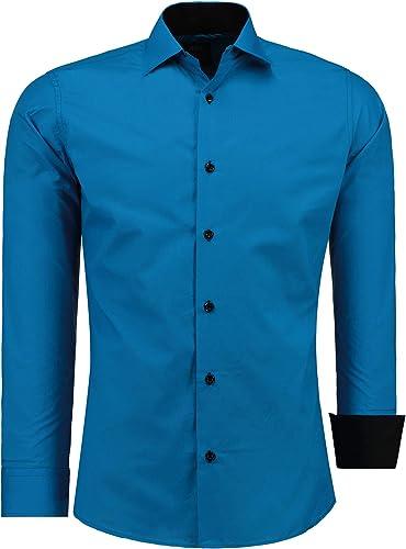 Jeel camicia da uomo - slim fit, a maniche lunghe , 70% cotone, 30% poliestere 12105B