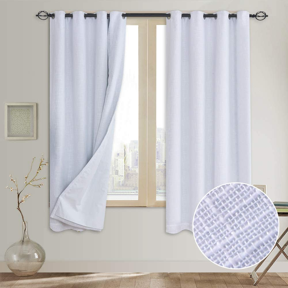 Rose Ranking TOP13 Home Fashion Primitive San Antonio Mall Linen wit 100% Blackout Look Curtain