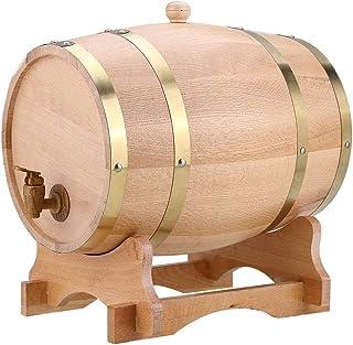 Tonneau de Vin en Bois Stockage à Vin Seau de Stockage pour Vin Fûts de Chêne pour Vin avec Support Stable Capacité 10L Pr...