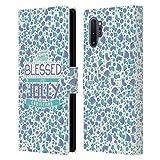 Head Case Designs Accesorios Navidad Bendita Carcasa de Cuero Tipo Libro Compatible con Samsung Galaxy Note10+