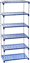 Dhani Creations Multipurpose Shoes Racks; Clothes; Books and Utility Rack; 6 Steps (Blue)