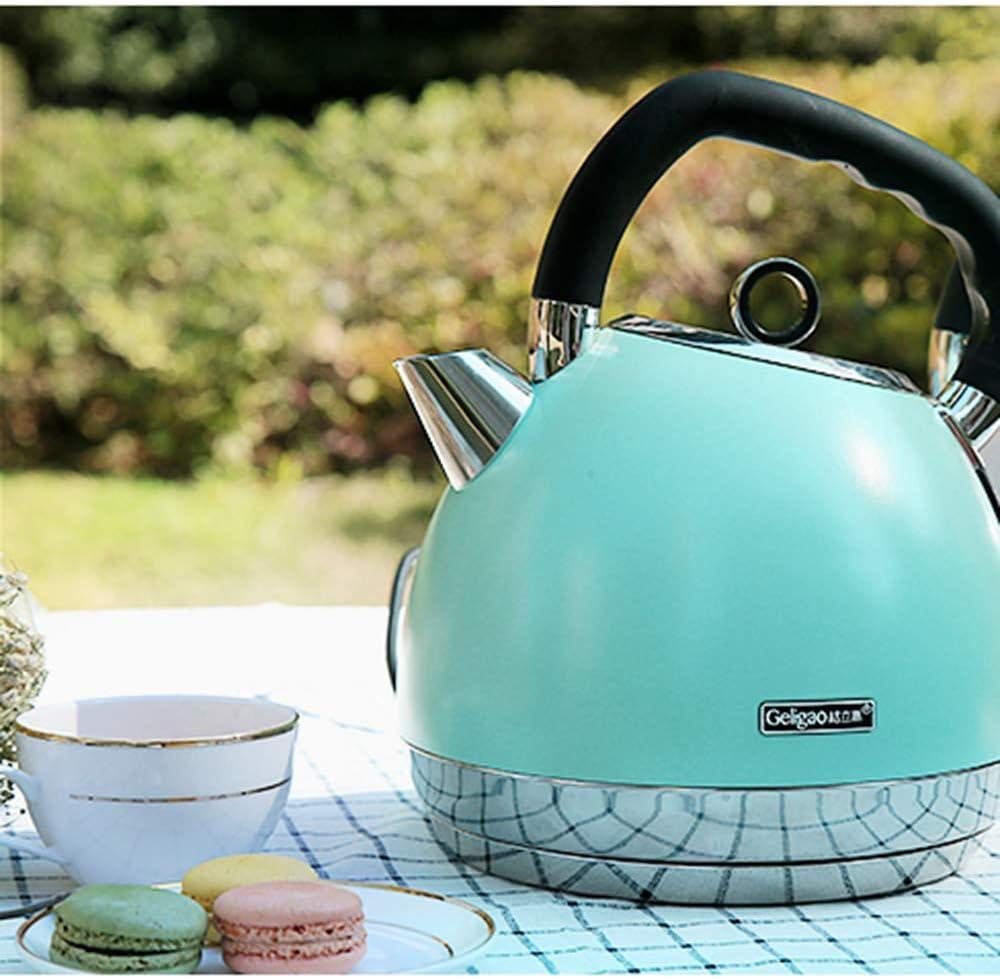 1 8 l Retro-Druck-WasserkocherÖko-Wasserkocher 1800 WattWasserkocher mit Innendeckel und Boden aus EdelstahlAuto-Off- und Kochtrockenschutz-Wasserkocher Beige Pink