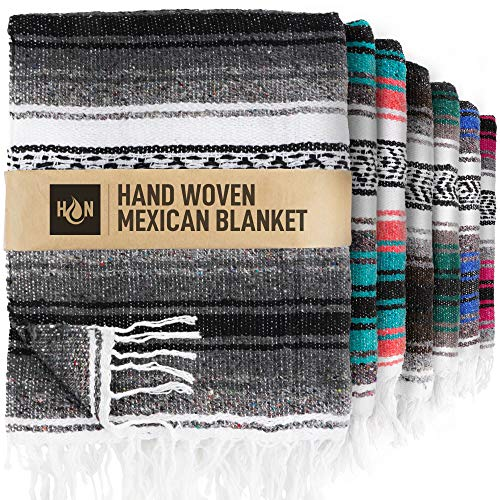 Handcrafted Mexican Blankets, Artisanal Handwoven Serape Blanket, Authentic Falsa Blanket, Great As Beach Blanket, Camping Blanket, Picnic Blanket, Outdoor Blanket, Boho Throw Blankets, Oxford