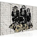 Runa Art Wandbild XXL Street Art Affen 200 x 80 cm Grau 5