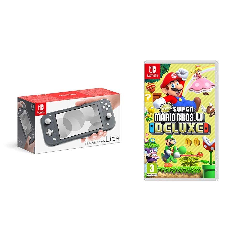 Nintendo Switch Lite Grey New Super Mario Bros U Deluxe Buy