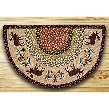 Earth Rugs Moose/Pinecone Slice Rug, 18  x 29