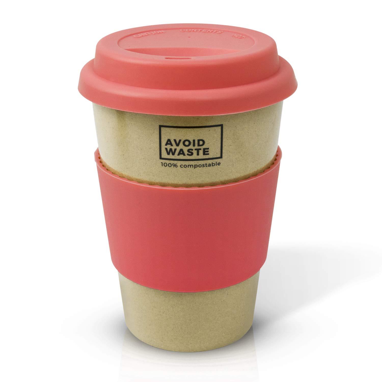 Avoid Waste - Vaso café SOSTENIBLE para llevar hecha de cáscara de ...
