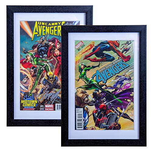 SC Comic Book Frame 2 Pack, Acid-Free Matting, 98% Ultraviolet UV Protected, Insert Mat fits Comics up to 6 3/4
