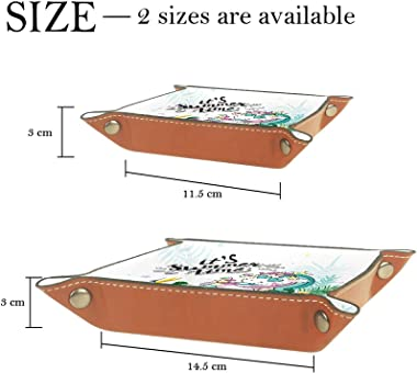 Leather valet Tray Multi-Purpose storage box Tray Organizer Used for storage of small accessories,it's summer time