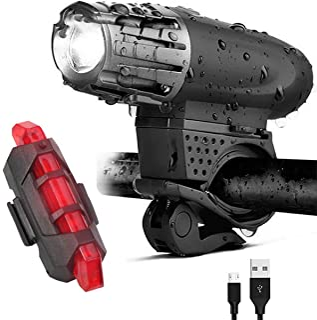 SEASKY Luz Bicicleta Recargable USB,Luces Bicicleta Delanter