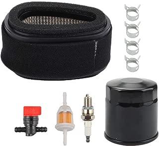 HONEYRAIN M70284 Air Filter Tune up Kit for John Deere 130 GX70 GX75 RX73 RX75 SRX75 Riding Mower Kawasaki 11013-2093 FC290V 9HP 4 Stroke Engine with Fuel Filter Oil Filter Spark Plug