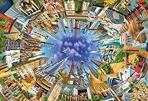 LHOME 1000 Teile Puzzle, Welt Sehenswürdigkeiten, Adult Games/Puzzles Das Holzpuzzle/Lernspiele/Puzzle-Sets for Familien