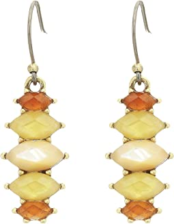 Citrine Mini Drops Earrings