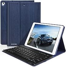 iPad Keyboard Case 9.7 for iPad New 2018 6th Gen/iPad Pro 2017 5th Gen/iPad Air 2 & 1- Slim Auto Sleep/Wake, Detachable Wireless Bluetooth Keyboard(Dark Blue)