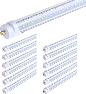 65W T8 V Shaped 8FT LED Tube Light 270 Angle, Single Pin FA8 Base 7800LM 5000K Natural White, 8 Foot Double Side (150W LED Fluorescent Bulbs Replacement),Dual-Ended Power AC 85-277V 12 Pack
