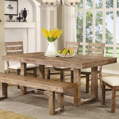 amazon com elmwood u base dining table wire brush nutmeg tables rh amazon com amazon white kitchen tables amazon uk kitchen tables and chairs