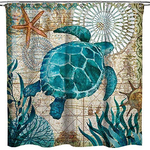 Best sea turtle shower curtain for 2020