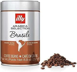 illy Arabica Selections Brasile Whole Bean Coffee, 100% Arabica Bean Single Origin Coffee, Intense Full Flavor Taste, Notes of Caramel, No Preservatives, 8.8oz