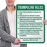 SmartSign 'Trampoline Rules' Sign | 18' x 24' Aluminum