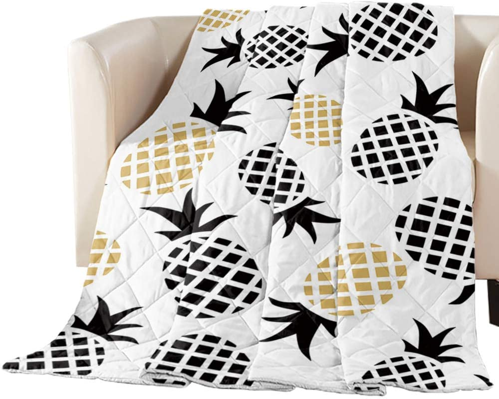 EZON-CH Cartoon gift wholesale Pineapple Fruit Pattern Bedding Oversized Quilte