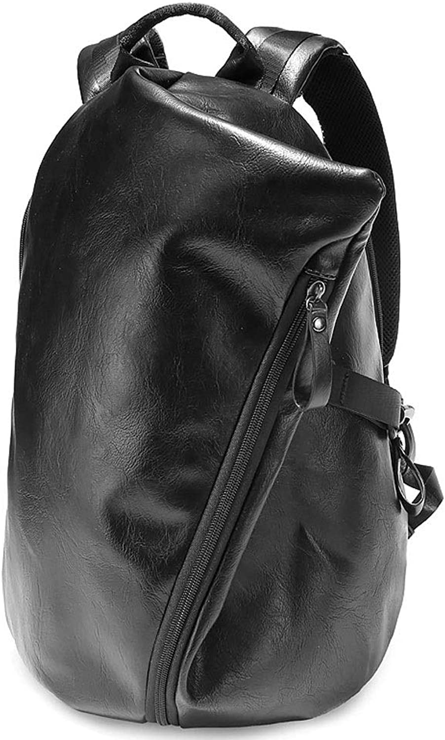 PU Backpack Fashion New Korean Casual Men and Women Fashion Bag Trend Student Bag Slim Version can accommodate 14inch Laptop