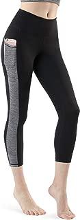 TSLA Yoga 21 Inches Capri Mid-Waist Pants w Pocket