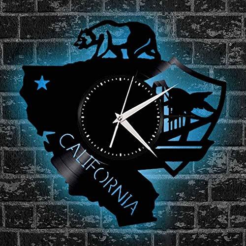 wttian Reloj Colgante de Pared silencioso, Moda artística, diseño de Territorio de California en la Sala de Estar, decoración del Dormitorio, Oso Polar de Gran mamífero