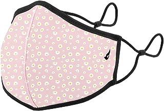 Abbacino mascarilla adulto lavable estampado margaritas rosa