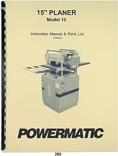 Powermatic Model 15 Planer Instruction & Parts Manual