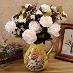 ZJJFZH Artificial Decorative Flowers 7 Small Ball Chrysanthemums, Chrysanthemums, Chrysanthemums, Graves, Graves, Sacrifices, Sacrifices, Fake Flowers, Plastic flowersDecorative Artificial Flowers