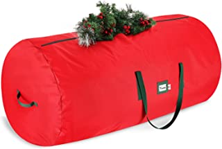 StorageMaid Christmas Waterproof Artificial Storage Bag Fits Up to 9 Foot Disassembled Xmas Tree Box with Reinforced Carry...
