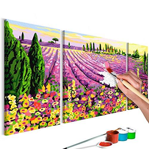 murando Pintura por Números Cuadros de Colorear por Números Kit para Pintar en Lienzo con Marco DIY Bricolaje Adultos Niños Decoracion de Pared Regalos - Lavanda 80x50 cm DIY - n-A-0224-d-e