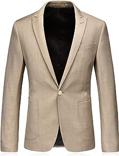 YOUTHUP Men's Blazers Slim Fit Business Wedding Blazer Formal Suit Jacket Single Breasted Coat