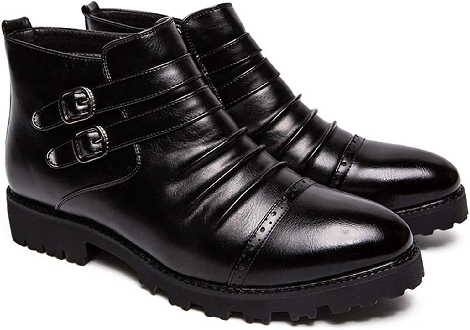 Easy Go Shopping Men's Fashionable Ankle Boots Casual Comfortable and Convenient Zipper High Top Martin Boot Cricket shoes