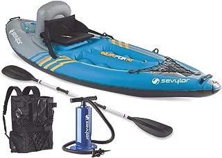 Sevylor K1 QuikPak 21 Gauge PVC Inflatable Coverless Sit-On-Top 1 Person Kayak