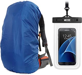MECOC Ultralight Backpack Rain Cover & Cooling Towel or Cellphone Waterproof Case, 3 Color Available,15-90L for Camping,Hiking,Cycling,Waterproof case for iPhone 6S 6, S7 Edge,S7,Up to 6 inches