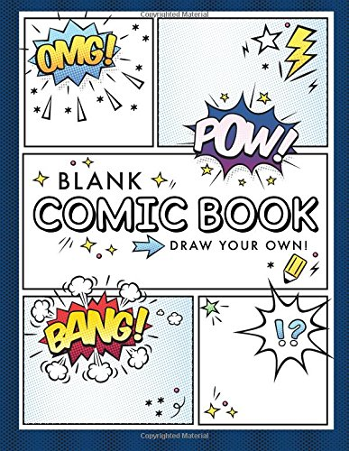 Blank Comic Book (Draw Your Own Comics): A Large Notebook and...