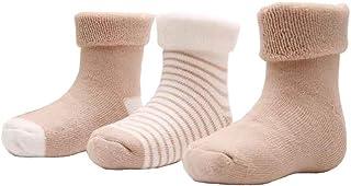 Marchuusu, Calcetines para recién nacidos unisex de algodón para niños de 0 a 1 año de 1 a 3 años ultra gruesos para clima frío invierno primavera otoño