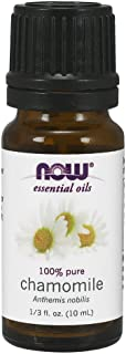 NOW Essential Oils, Chamomile Oil, Delightful Aromatherapy Scent, Steam Distilled, 100% Pure, Vegan, Child Resistant Cap, ...