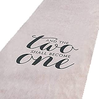 And The Two Shall Become One Wedding Aisle Runner 100 FT X 3 FT Wedding Aisle Decoration (White)