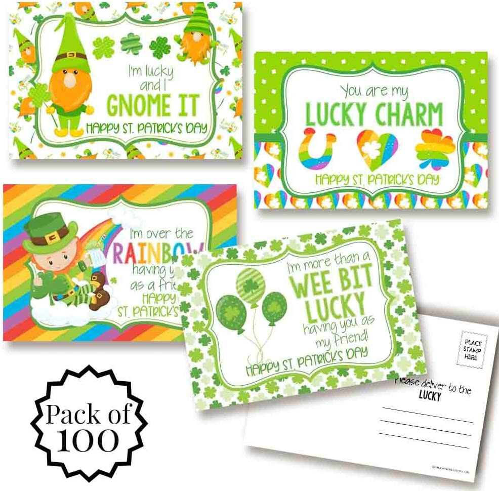 Lucky Leprechauns Gnomes At the price Super sale St. Patrick's Day Blank Postcards To