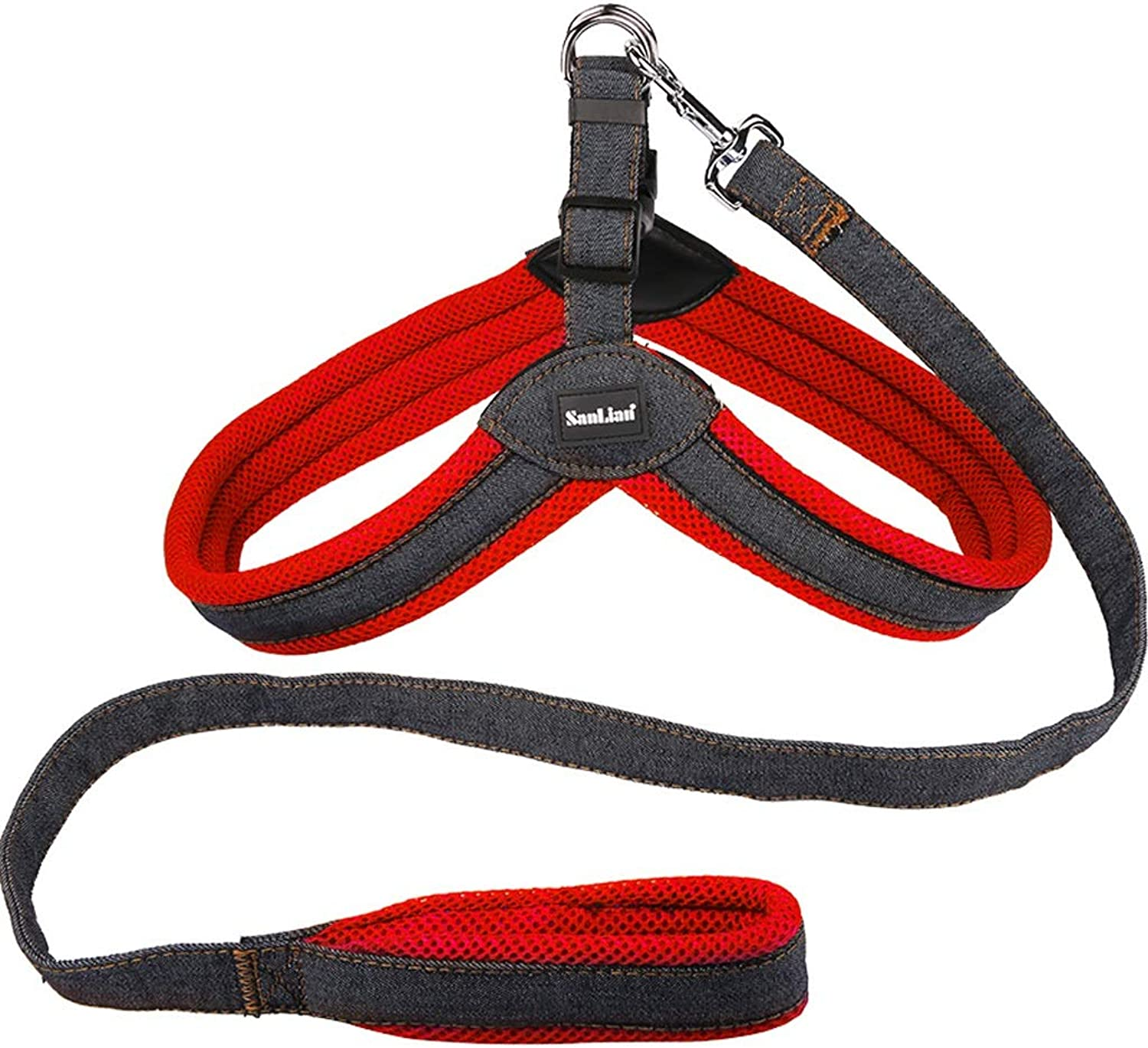 Pet Leash Dog Vest Dog Chain, Mesh Breathable Can Not Prevent Dogs Running, Red bluee KGMYGS (color   Red, Size   L)