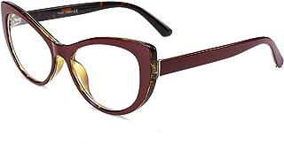 207ccf6a59 FEISEDY Womens Cateye Glasses Frame Printed Eyewear Non-prescription  Eyeglasses B2441